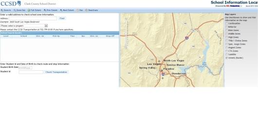 school bus information map